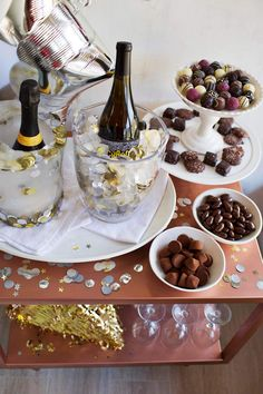 NYE Wine Bar – Serving Chilled Wines & DIY Ice Bucket – A Beautiful Mess