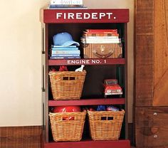 Think I could make this? Firehouse Bookcase #PotteryBarnKids