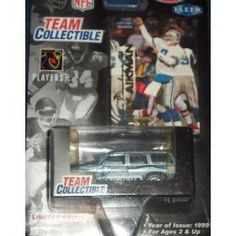 Dallas Cowboys 1999 Diecast NFL GMC Yukon with Troy Aikman Fleer Card by White Rose by Fleer   $22.79