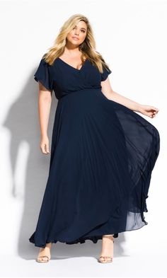 c1aab8f77b307 Shop Women s Plus Size Sweet Wishes Maxi Dress - navy - Special Occasion  Dresses - Dresses