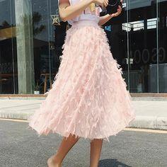 Marcy - High Waist Fluffy Tulle Skirt eotita Tassel Skirt, Lace Up Skirt, Pleated Skirt, Cheap Skirts, Skirts For Sale, Mode Rose, Boho Skirts, Tulle Skirts, Tulle Tutu