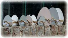 Ostereier - Ei, Eier, Osterei, Ostereier Holz, selbststehend - ein Designerstück von Alexandra-Sangs bei DaWanda