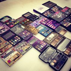 Urban Decay Eyeshadow Palettes. I need every single one of these in my life!!!!!