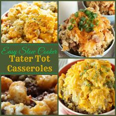 Easy Slow Cooker Tater Tot Casseroles - Just try to resist!