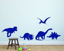 Dinosaurs set of Vinyl Wall Decals - Dinosaur Decal - Nursery Vinyl Wall Decal - Wall Sticker-Child's Room Wall Decal - Dinosaur Silhouettes