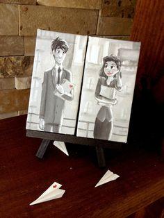 Paperman mini canvas set from Jaysart on Etsy. Shop more products from Jaysart on Etsy on Wanelo. Baby Canvas, Mini Canvas Art, Cool Art Projects, Diy Projects, Disney Movies To Watch, Art Addiction, Disney Kunst, Disney Diy, Small Art
