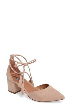 Free shipping and returns on Halogen® Iris Lace-Up d'Orsay Pump (Women) at Nordstrom.com. Slender ghillie laces with tassels elevate the trend-right appeal of a svelte, mid-heel pump in an eye-catching pointy-toe style fashioned from buttery-soft suede.