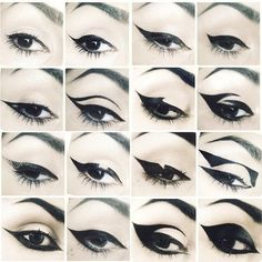 16 Different Eye Liner Styles #katvond #eyeliner looks #makeuplooks - bellashoot.com