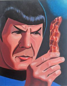 Spock contemplates bacon