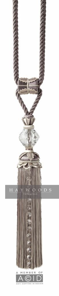 A stunning passementerie tassel featuring SWAROVSKI crystal
