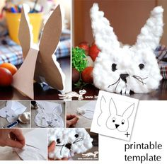 BUNNY Card- krokotak.com #eastercrafts