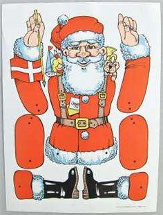 denglemteskuffes sprællemænd Vintage Paper Dolls, Vintage Crafts, Vintage Toys, Paper Puppets, Paper Toys, Paper Crafts, Christmas Paper, Vintage Christmas, Christmas Crafts