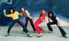 Van Halen recording new album with David Lee Roth Disco Roller Skating, Roller Disco, Roller Derby, Roller Rink, Eddy Van Halen, Alex Van Halen, World Music, Music Is Life, Skates
