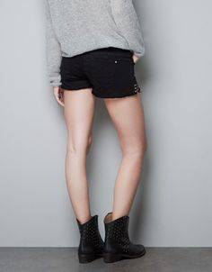 STUDDED SHORTS - Trousers - TRF - ZARA