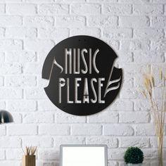 Metal Poster - Music Please Hoagard Metal PlakaMetal Lazer KesimTaş döküm boya1.5 mm çelik malzemeÖzel tasarımÜrün.... 373272