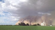 Today in the Bloggernacle: A Mormon temple in a dust storm