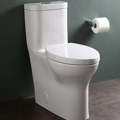 DXV Lyndon One Piece Elongated Dual Flush Toilet Room Scene- Canvas White