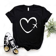 Cheap T Shirts, Casual T Shirts, Cool T Shirts, Black Short Sleeve Tops, Black M, Color Black, Travel Shirts, T Shirts For Women, Clothes For Women