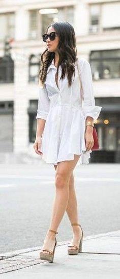 #street #style #spring #2016 #it-girl #outfitideas |LWD + Platform Heels |Wendy's Lookbook