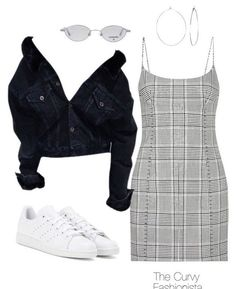A fashion look from December 2017 featuring spotty dress, adidas shoes and hammered silver earrings. Browse and shop related looks. Teen Fashion Outfits, Retro Outfits, Look Fashion, Outfits For Teens, Korean Fashion, Fall Outfits, Summer Outfits, Casual Teen Fashion, Preteen Fashion