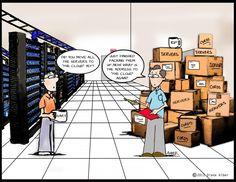 comics - Kip and Gary Data Center Comics Cloud Data, Computer Humor, Tech Humor, Now What, Nerdy, Geek Stuff, Social Media, Funny, Tech Support