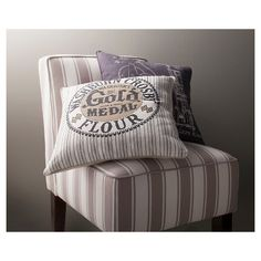 Gold Medal Flour Throw Pillow - Grey (20x20) - The Industrial Shop™ (wish this pillow was still in stock)