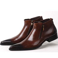 Genuine Leather Pointed Toe Chat Zip Men Formal Shoes Dress Boots (6, brown) Fulinken http://www.amazon.com/dp/B00ITP0Q5C/ref=cm_sw_r_pi_dp_o5Pfwb101YM7Q