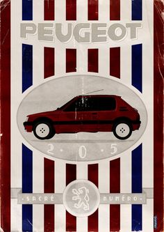 Yet another Pug! | And here's another one fresh from the archives: http://www.pointt83.com/peugeot-205-infographic