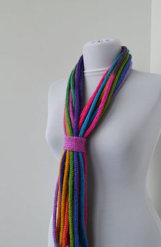 Knit Scarf Necklace loop scarf infinity scarf neck by DreamList