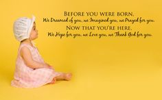 Before you were born we dreamed of you....Nursery Vinyl Wall  Lettering Decal Sticker.1319. $9.95, via Etsy.