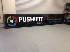 Push Fit Studio rebranded and wanted Speedpro Imaging Burloak to redo their sign can. This included cut/printed vinyl applied and reinstalled. Client was so happy with the finished look!