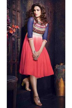 Modish Red Georgette Readymade Kurti Diwali Sale, Designer Dresses, Designer Kurtis, Special Occasion Dresses, Casual Dresses, High Waisted Skirt, Tulle, Pure Products, Clothes For Women