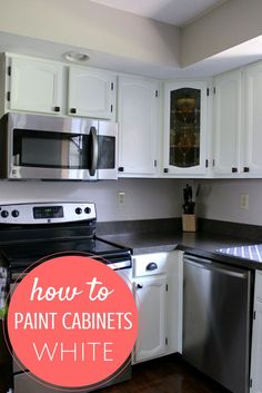Have you ever wondered how to paint cabinets?  Well, I just did!  Here's a step by step description of what I learned along the way.  Find out what the best paint is to buy and the best brushes to use.  It's a big project but it will save you lots of money!
