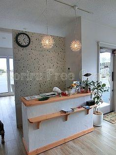 美容室 漆喰仕上げレジカウンター 店舗什器 ナチュラル 北欧 レトロ 家具 オーダーメイド Noriru Free Craft