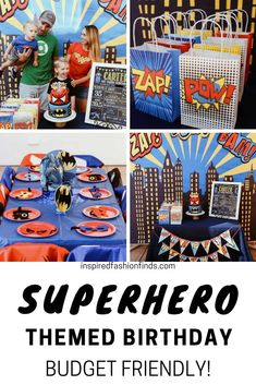 For our son's 3rd birthday he wanted all things superhero!! Luckily it was a leisurely shopping trip for me because I was able to find everything from Amazon! #amazondecor #birthdayparty #sonparty #sonbirthdayparty #superhero #superherotheme #thirdbirthday #thirdbirthdayparty