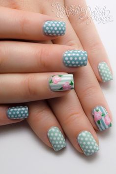I love dotticures! This one from The Nail Polish Project @Anna Dukes Sanders @Eryn Eddy Erickson