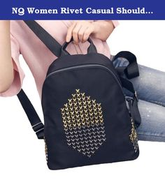 """NQ Women Rivet Casual Shoulder Bag Backpack Lovely Knapsack 2 OS. Note: The size chart is normal china size. our size is smaller two than the size United States. 1-----The PU Leather 2----- The Oxford Product Parameters Adjustable sternum strap Fabric: PU Leather Item Weight: 0.80kg Product Dimensions:12.99""""(33cm) x8.66""""(22cm) x4.72""""(12cm)."""