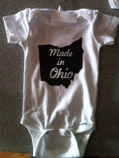 Childrens Onsies Made In State by Richcrafter on Etsy, via Etsy.