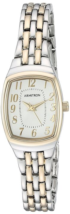 Armitron Women's Quartz Metal and Alloy Dress Watch, Color:Two Tone (Model: 75/5375SVTT) ** You can get additional details at the image link.
