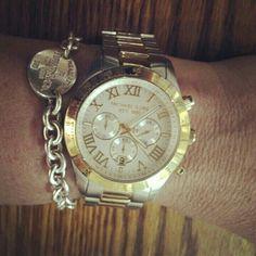 Tiffany bracelet & Michael Kors watch