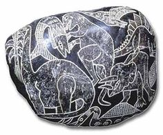 The Ica Stones are a collection of andesite stones alleged to contain ancient depictions of dinosaurs and advanced technology. They were reportedly discovered in a cave near Ica, Peru not far from the Nazca Lines. Aliens And Ufos, Ancient Aliens, Ancient History, Peru History, History Facts, Fresco, Ancient Peruvian, Mysteries Of The World, Mystery Of History