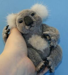 Koolewong recycled sheared beaver and mink fur Baby Koala Bear joey