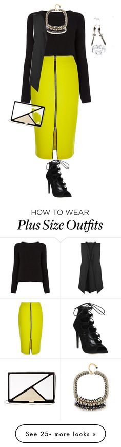 """plus size high fashion winter chic"" by kristie-payne on Polyvore featuring Oasis, River Island, Nocturne, Office, Boohoo, Roger Vivier and Disney"