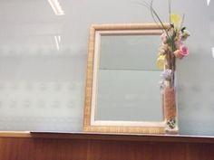 Espejo enmarcado con marco doble