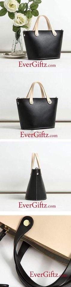 Genuine Leather Mini Tote Women Cute Girl Handbag Purse Bag Crossbody Bag Shoulder Bag