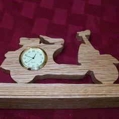 Motorcycle wooden miniature desk clock by Fine Crafts on Opensky