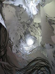Mia Pearlman paper installations