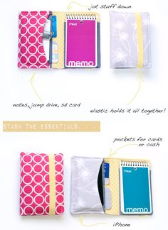 DIY : organizer wallet tutorial and a giveaway Sewing Basics, Sewing Hacks, Sewing Tutorials, Sewing Crafts, Sewing Projects, Sewing Patterns, Tape Crafts, Sewing Classes For Beginners, Diy Accessoires