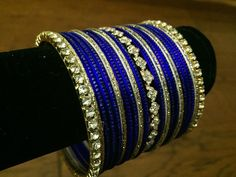 Handmade Indian Bangles for both Hands Royal Blue by Fashionkali