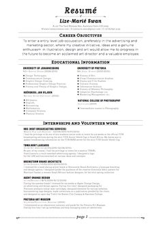 does your resumé need help does it look like this